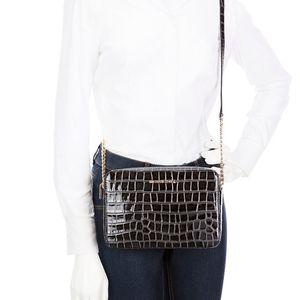 Michael Kors Black Crocodile Crossbody Bag